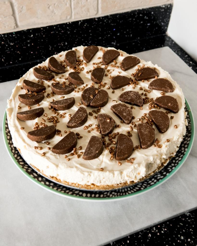 No Bake White Chocolate Cheesecake With Chocolate Orange